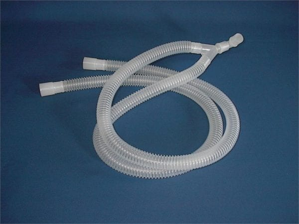 y breathing tubes for non rebreathing systems