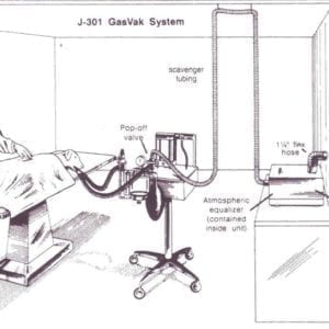 single station gasvac non rebreathing system