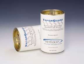 veterinary anesthesia ventilator vapoguard charcoal filter